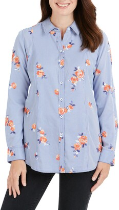Foxcroft Riley Embroidered Shirt