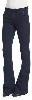rag & bone/JEAN Low-Rise Bell-Bottom Trousers, Rivington $225 thestylecure.com