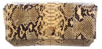 Lanvin Snakeskin Flap Clutch