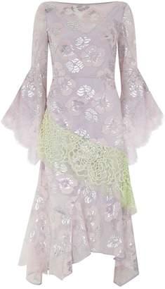 Peter Pilotto Metallic Lace Frill Dress