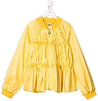 Elisabetta Franchi La Mia Bambina TEEN ruffle-trimmed bomber jacket