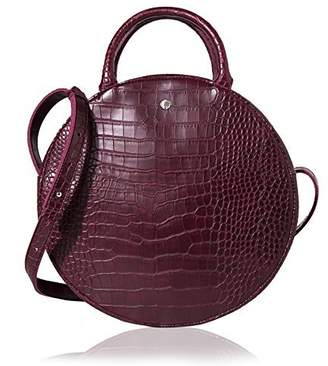 Co The Lovely Tote Women's Fashion Crocodile Circle Crossbody Bag