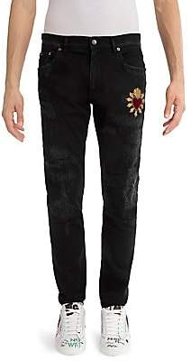 Dolce & Gabbana Men's Distressed Heart Skinny Jeans