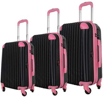 Brio Luggage 808 Hard Side Spinner Carry-On Set