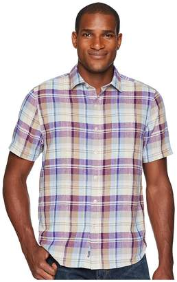 Tommy Bahama La Paz Plaid Short Sleeve Camp Shirt Men's Clothing