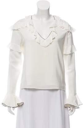 Alexis Silk Long Sleeve Top