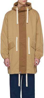 Acne Studios Drawstring hooded twill coat