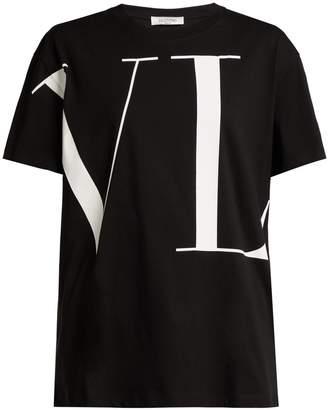 Valentino Wraparound logo-print cotton T-shirt