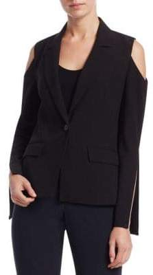 Crosley Slit Detail Cold-Shoulder Blazer