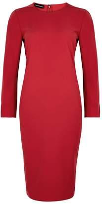 Emporio Armani Red Crepe Dress