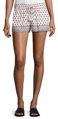 Soft Joie Avia Printed Cotton Drawstring Shorts, Red $128 thestylecure.com