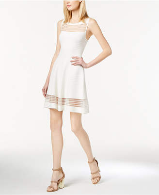 French Connection Illusion Fit & Flare Dress