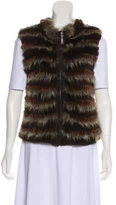 Trilogy Fur Zip Vest