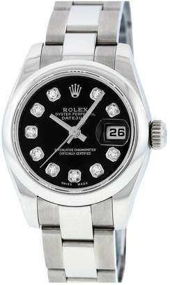 Rolex Lady DateJust 26mm Black Steel Watches