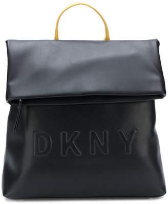 DKNY logo embossed backpack