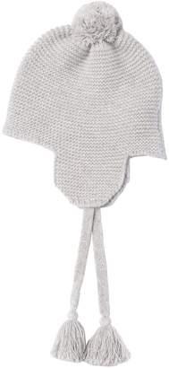 Il Gufo Wool Tricot Knit Hat W/ Tassels