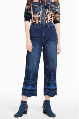 At Tiques Desigual Giulia Embroidered Jeans