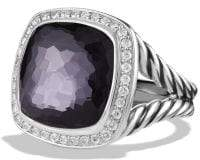 David Yurman Albion® Ring With Black Orchid And Diamonds, 14Mm