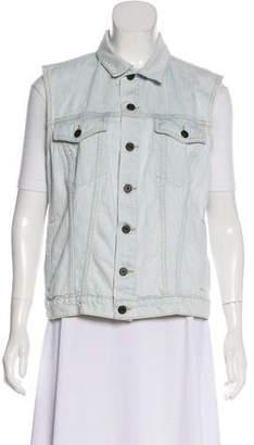 Proenza Schouler Denim Button Up Vest