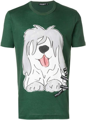 Dolce & Gabbana dog printed T-shirt