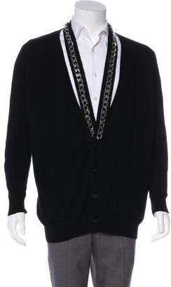 Givenchy 2016 Cashmere Chain-Link Cardigan