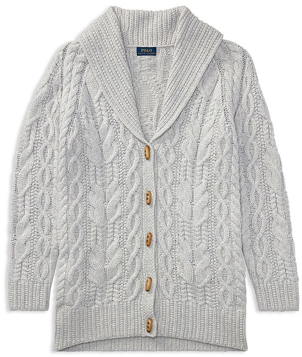Ralph Lauren Childrenswear Girls' Shawl-Collar Cardigan - Big Kid