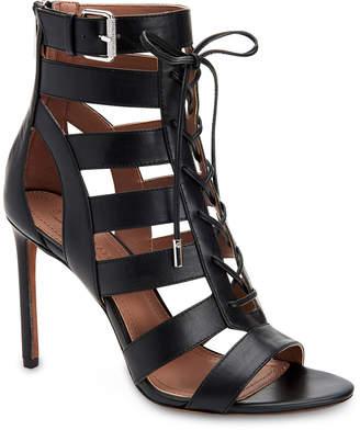 BCBGMAXAZRIA Ebony Leather Gladiator Sandals
