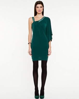 Le Château One Shoulder Knit Dress