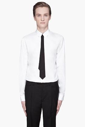 Kris Van Assche KRISVANASSCHE White black tie Poplin Shirt