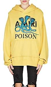 "Amiri Women's ""Poison"" Snake Cotton Hoodie - Yellow"