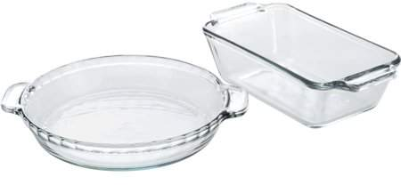 Anchor Hocking 11-Piece Glass Bakeware Set, Clear