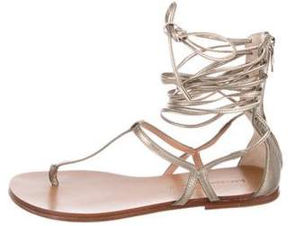 Sigerson Morrison Leather Lace-Up Sandals