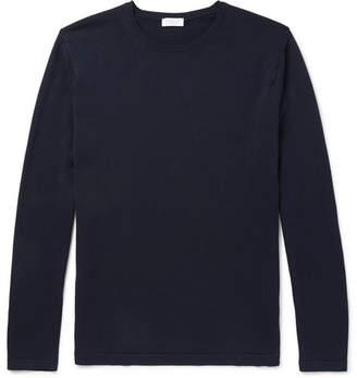 Sunspel Sea Island Cotton Sweater - Navy