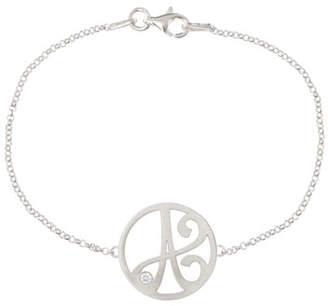 K Kane Mini Single Initial Diamond Bracelet