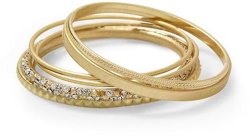 Tinley Road Mixed Gold-Tone Bangle Set