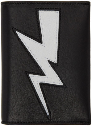 Neil Barrett Black Thunderbolt Bifold Card Holder $170 thestylecure.com