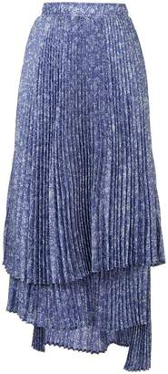 Clu asymmetric pleated skirt