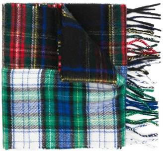 Lanvin check pattern scarf