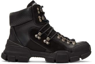 Gucci Black Flashtrek Ankle Boots