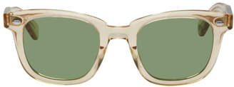 Garrett Leight Green and Pink Transparent Calabar Sunglasses