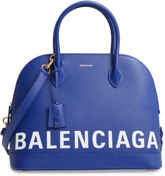 Balenciaga Ville Logo Leather Satchel