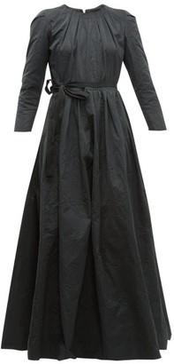 Brock Collection Pia Tie Waist Taffeta Dress - Womens - Black