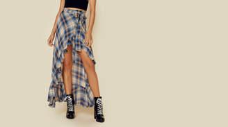 Blue Life Aura Flannel Skirt
