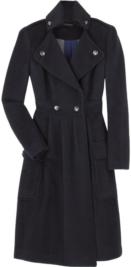 Diane von Furstenberg Long wool blend coat