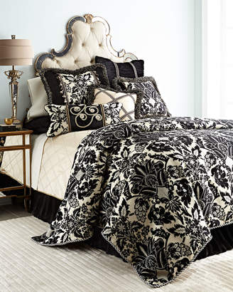 """Sweet Dreams Verona Pieced Pillow with Rosettes, 14"""" x 28"""""""