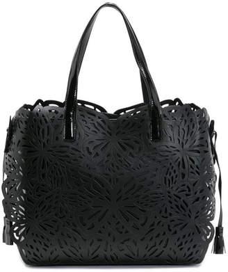 Sophia Webster Liara Laser-Cut Butterfly Tote Bag, Black