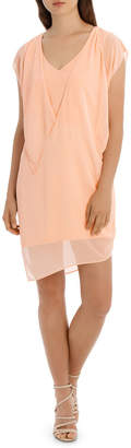 V Neck Overlay Dress