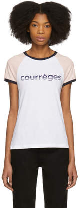 Courreges Tricolor Vintage Logo T-Shirt