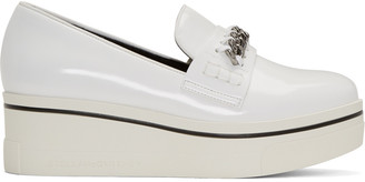 Stella McCartney White Binx Loafers $500 thestylecure.com