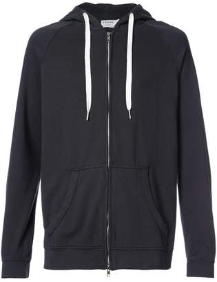 Frame zipped hoodie
